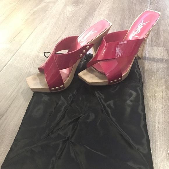 a3ab0c0a03 Yves Saint Laurent Shoes | Authentic Ysl Hot Pink Heels | Poshmark